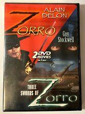 Zorro And Three Swords Of Zorro Sealed DVD Movie On 1 DVD 2002 DSSP DSL-2-11389