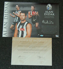 ALAN DIDAK COLLINGWOOD MAGPIES HAND SIGNED STAR SHOT OFFICIAL AFL PRINT SWAN