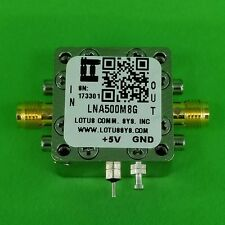 Broadband Low Noise Amplifier 1.3dB NF 0.5~8GHz 21dB Gain 20dBm P1dB SMA