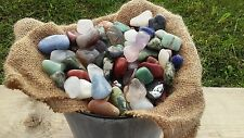 Tumbled Stones crystal gemstone mineral Mix lot  1000 carat polished rocks