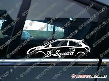 D-SQUAD car shadow sticker - for Vauxhall Corsa D VXR