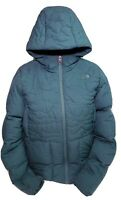 The North Face Women's Green Goose Down 550 Hooded Puffer Quilted Jacket Size XL