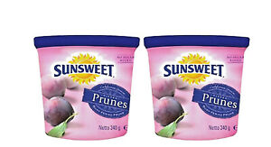 SUNSWEET Amazing Prunes Bite Size Pitted Prunes 340G X 2 Containers NEW