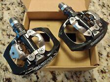 NEARLY NEW Shimano PD-A530 Clipless Bike Pedals Black MTB Dual Platform Chromoly