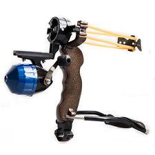 New Powerful Hunting Fishing Slingshot Catapult &Folding Wrist Rest Sling shot