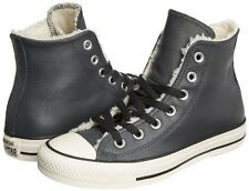 9276b156b0c99c Converse CHUCK TAYLOR All Star Faux Fur Hi Top Leather Shoes DK GRAY Mens 6  NEW