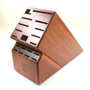 "J.A. Henckels Dark Wood 19 Slot Knife Storage Block - Up to 11-3/4"" Blades"