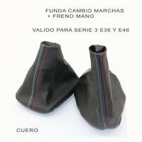 FUNDA PALANCA DE CAMBIO + FRENO MANO PARA BMW SERIE 3 E36 Y E46 HILO TRICOLOR
