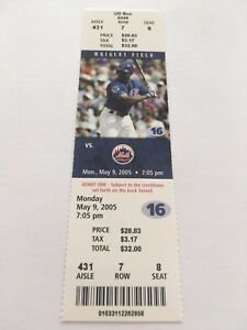 Mike Piazza HR #384 Home Run May 9 2005 5/9/05 Chicago Cubs Mets Full Ticket