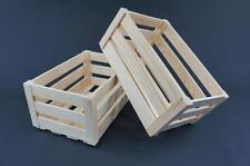 1 x Plain Wooden Crate Caddy Storage Tray Unit Vintage Tray (PD31)