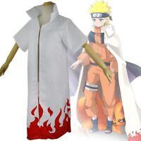UK Seller Anime NARUTO the 4th Hokage Namikaze Minato Cloak Robe Cosplay Costume