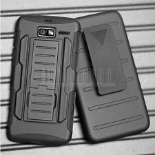 For Motorola Droid Razr M/I XT907 XT890 Luge Hybrid Armor Case Cover Holster
