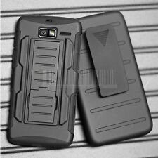 For Motorola Droid Razr M/I XT907 Luge Hybrid Impact Armor Case Cover Holster