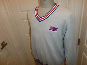 Vintage Sewn Russell Athletic New York Giants NFL V- Neck Jacket Fits L Pockets
