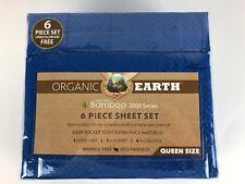 Organic Earth Aloe Vera Bamboo 2000 Series 6 Piece Sheet Set Queen New