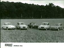 Photo de presse ancienne automobile voiture Renault 1962 usine Billancourt