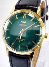 VINTAGE MEN'S HMT SONA WINDING WRIST WATCH GOLD PLATED 17 JEWELS FOR GENTS WEAR