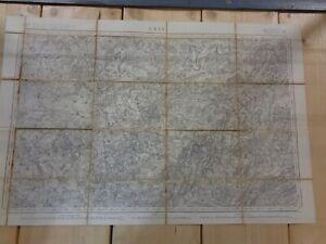 Carte d'état major de GRAY (Langres) 1839  Vesoul Neuvelle