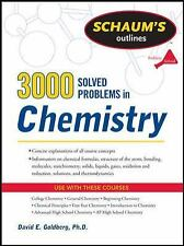 3,000 Solved Problems in Chemistry by David E. Goldberg (2011, Paperback,...