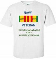 USS NIAGARA FALLS AFS-3  *SOUTH VIETNAM* VIETNAM VETERAN RIBBON 1959-1975 SHIRT
