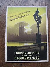 Heft HAPAG London - Reisen Hamburg-Süd September 1938