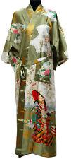 green Charming Chinese Silk Women's Kimono Robe Gown