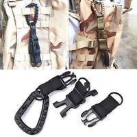 Carabiner Hook Webbing Buckle Nylon Belt Hanging Key Clip Outdoor Ring Camp F5O8