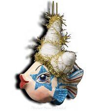 Goodwill Funky HAIR Kissing FISH circo-Pesce Decorazioni Natalizie BLU COLORATO NUOVO