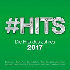 #HITS 2017-DIE HITS DES JAHRES, ED SHEERAN, DIE TOREN HOSEN,KAY ONE  2 CD NEW