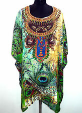 Sheer Embellished Caftan, Digital Print Gorgeous Kaftan, Free Size 16-18-20-22