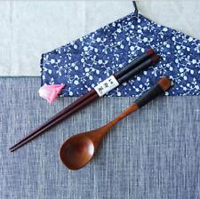 Wooden Cutlery Set Spoon and Chopsticks Korean Tableware Twine Handle Rice Soup