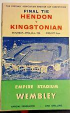 More details for hendon v kingstonian f.a. amateur cup final programme 23rd april 1960 wembley.