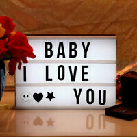Party Decor Xmas Gifts Light Up letters A4 A5 Cinematic Light Box Led Lightbox