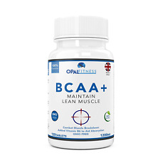 BCAA Tablets, 1200mg Branched Chain Amino Acids By Opal Fitness Nutrition - With