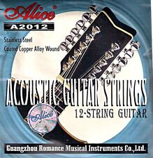 Lot de 12 Acoustic Guitare Strings Gauge .010 To .050 Alice A2012