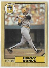 1987 O-Pee-Chee OPC #320 Barry Bonds RC Pittsburgh Pirates Rookie Card