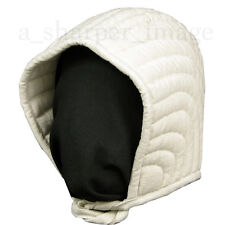 Padded Armor Arming Cap by GDFB for Knight Helmets WMA HEMA SCA White One Size