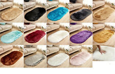 Faux Fur Sheepskin Rug Balcony Oval circle Rectangle Floor Carpet Bedroom Mat