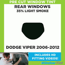 Pre Cut Window Tint - Dodge Viper 2006-2012 - 35% Light Rear