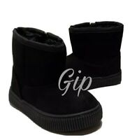 Cat & Jack Toddler Boys Arias Winter Faux Fur Black Size 12 Side Zip Boots