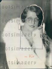 Contralto Radio Singer Mildred Hunt Press Photo