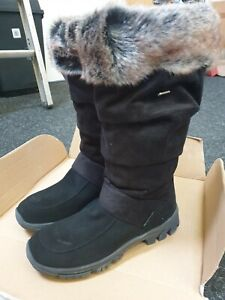 Ladies Cosy Suede Mammal Winter Boot, Black