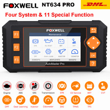 Foxwell NT634 PRO Automotive OBD2 Diagnostic Scanner ABS SRS TPMS Engine DPF EPB