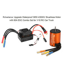 Waterproof B3650 4300KV Brushless Motor w/ 60A ESC Combo Set for 1/10 RC Car AU