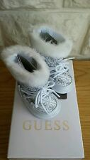 BNIB, GUESS 'ARRANO' WHITE BOOTS - U.K. SIZE: 1.5 INFANT.  RRP £63.99