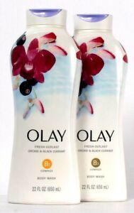 2 Bottles Olay 22 Oz Fresh Outlast Orchid & Black Current B3 Complex Body Wash