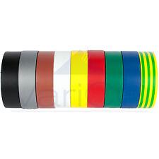 ELECTRICAL PVC INSULATION TAPE / INSULATING TAPE 19mm x 20m FLAME RETARDANT PK8