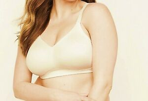 54D Bra Catherines Ivory No-Wire Wirefree Back Smoother T-Shirt Bra   NEW