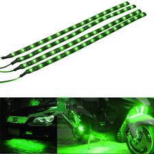 4x Green 12V 30Cm 15SMD LED Waterproof Flexible Strip Light For Harley-Davidson
