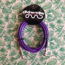 DIVINE NOISE  15ft Straight GUITAR Cable Purple (ST-RA) SEE VIDEO BELOW